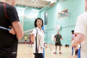 Image of Linda coaching